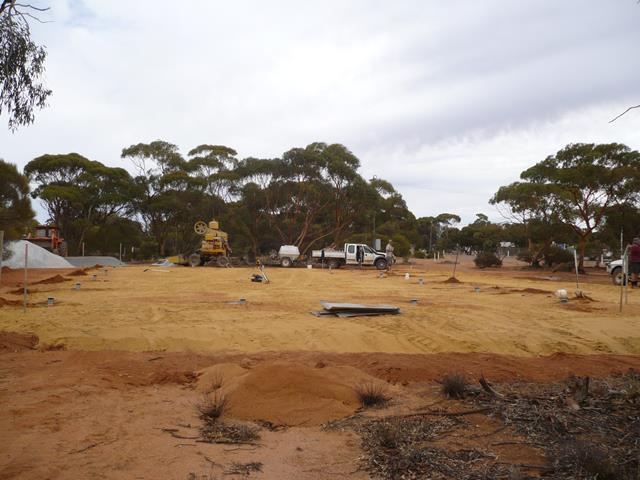 Preparing the vacant lot 2009