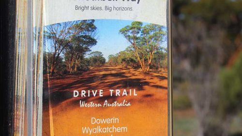 Wheatbelt Way brochures available in outdoor display