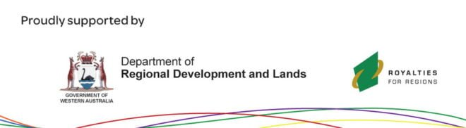 CRC lines - Department of Regional Development and Lands - Royalties for Regions Scheme logos