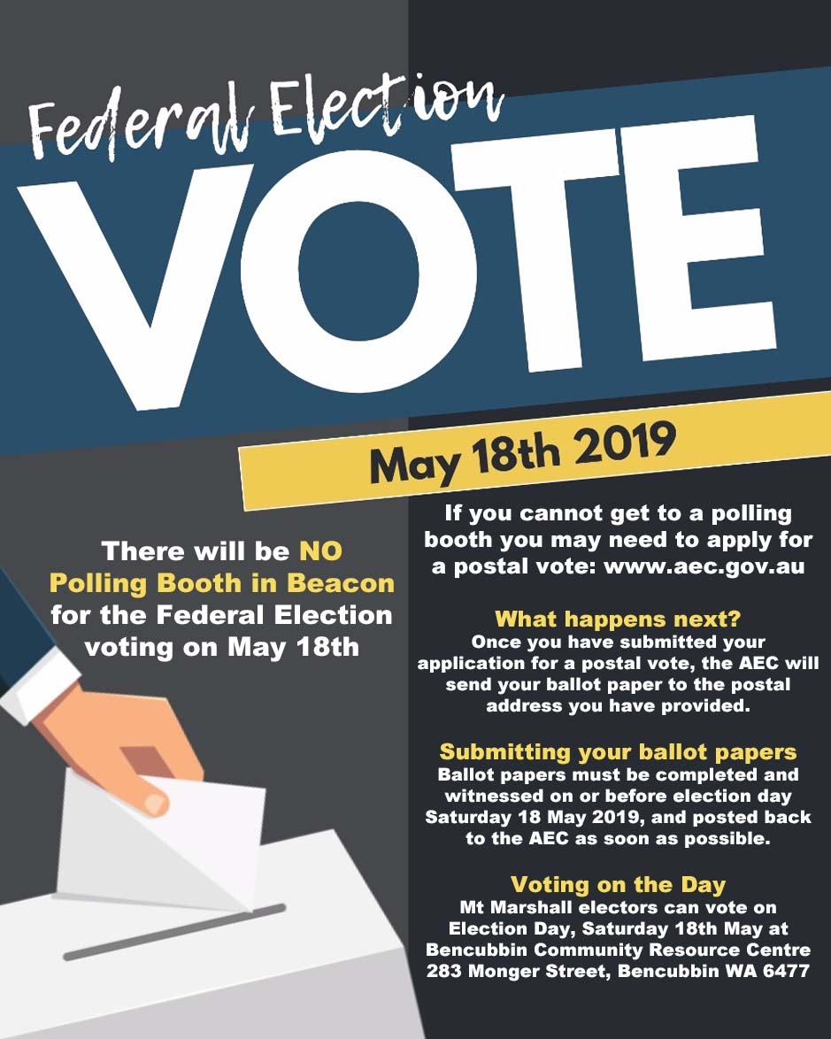 Vote in the May 2019 Federal Election poster