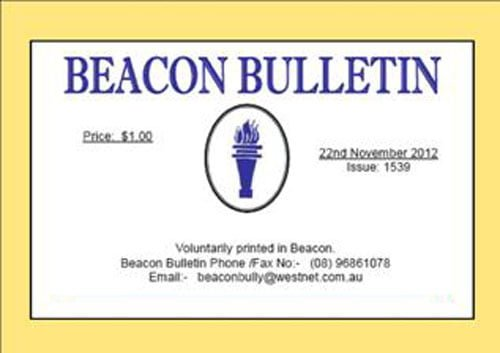 Beacon Bulletin masthead