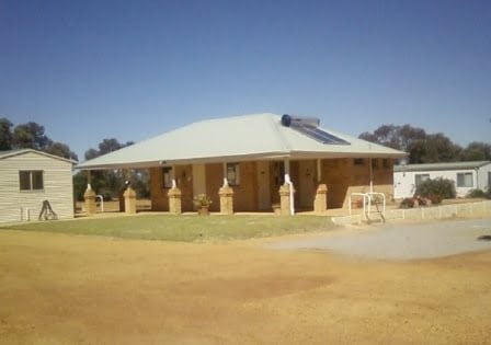 Accommodation can be booked at the Beacon Caravan Park Office shown here