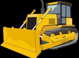 illustration of a bulldozer