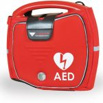 Photo of the AED portable defibrillator